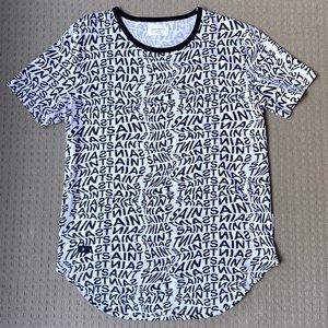 Saint Morta Monogram 100% Cotton T Shirt XL.